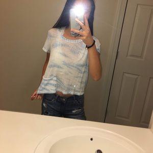 see through tie-dye t-shirt.